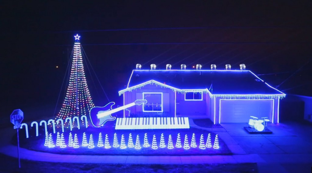 Star Wars Christmas Lights Music Display