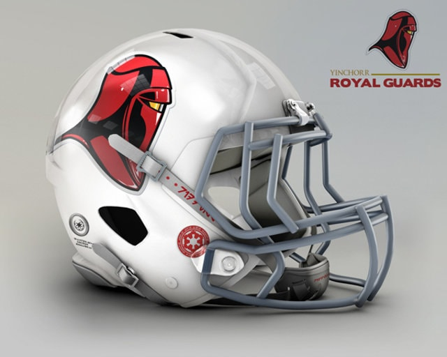 NFL Star Wars Football Helmet - Cardinals