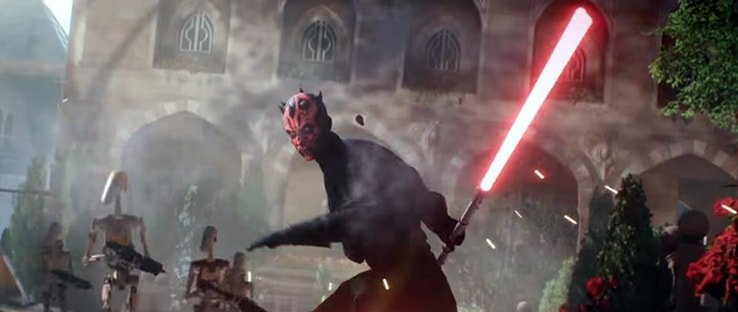 Darth Maul with lightsaber